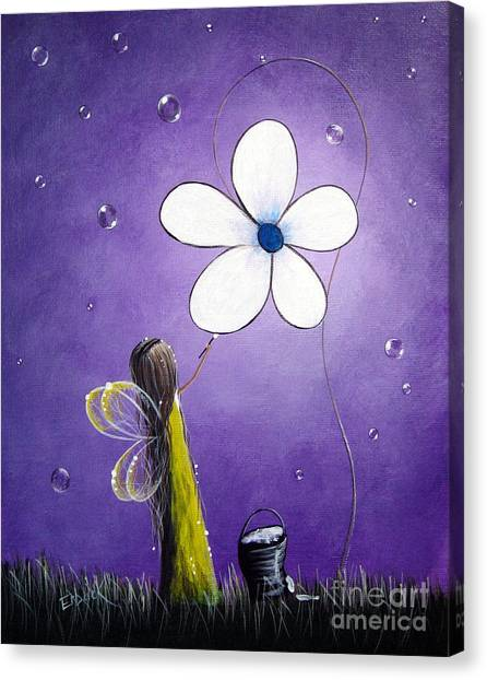 Daisy Fairy By Shawna Erback Canvas Print by Artisan Parlour