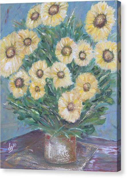 Daisy Burst Canvas Print