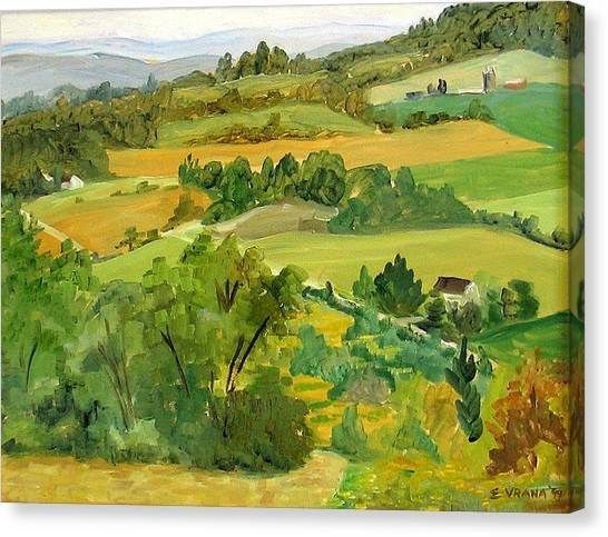 Daisy Hollow Dryden New York Canvas Print by Ethel Vrana