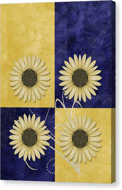 Fleur Canvas Print - Daisy Quatro V09 by Variance Collections