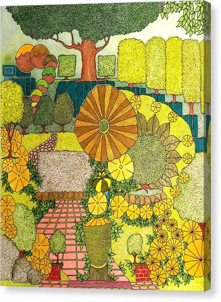 Daisy Walk Canvas Print