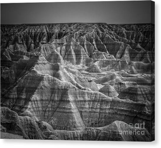 Black Rock Desert Canvas Print - Dakota Badlands by Perry Webster