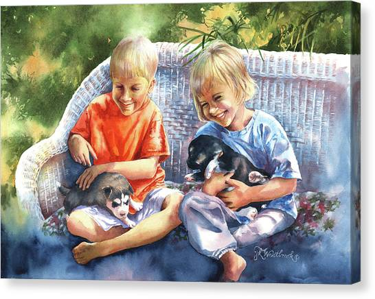 Dakotas Puppies Canvas Print
