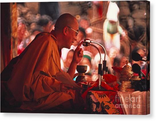 Notable Canvas Print - Dalai Lama, Nobel Prize 1989 by Kazuyoshi Nomachi