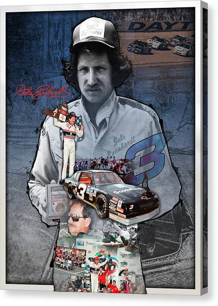 Wrenches Canvas Print - Dale Earnhardt Collage by Retro Images Archive