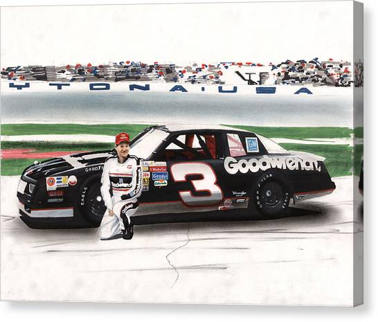 Daytona 500 Canvas Print - Dale Earnhardt Goodwrench Monte Carlo by Paul Kuras