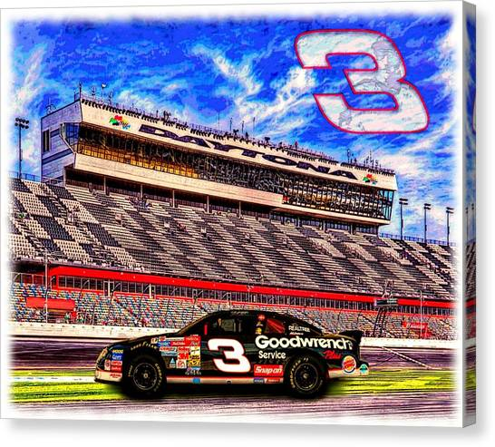 Daytona 500 Canvas Print - Dale Earnhardt Sr - The Intimidator by Charles Ott