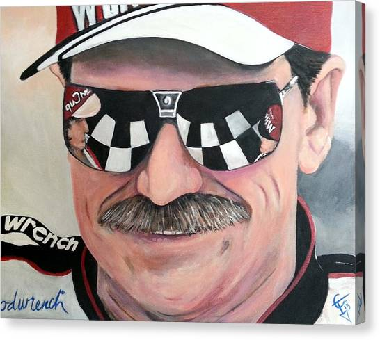 Nascar Canvas Print - Dale Earnhardt Sr by Tom Carlton