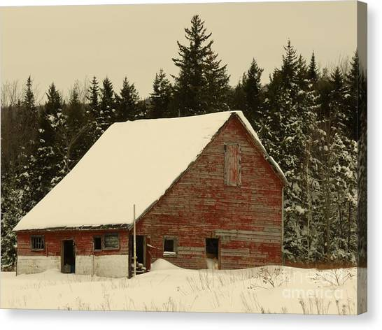 Dale Lane Barn Canvas Print