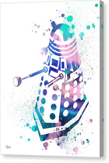 Doctor Who Canvas Print - Dalek 2 by Watercolor Girl