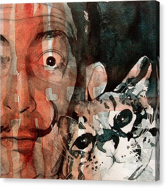 Painters Canvas Print - Dali And His Cat by Paul Lovering
