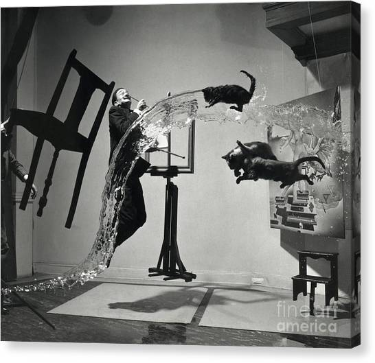 Salvador Dali Canvas Print - Dali Atomicus (1948) by Library Of Congress