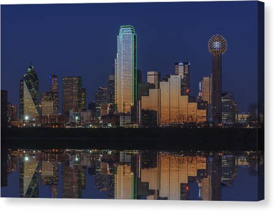 Dallas Skyline Canvas Print - Dallas Aglow by Rick Berk