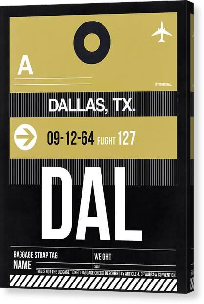 Dallas Canvas Print - Dallas Airport Poster 2 by Naxart Studio