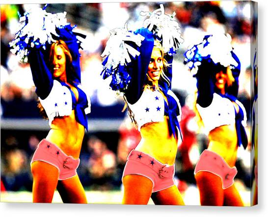 Dallas Cowboys Cheerleaders Canvas Print - Dallas Cowboys Cheerleaders by Brian Reaves