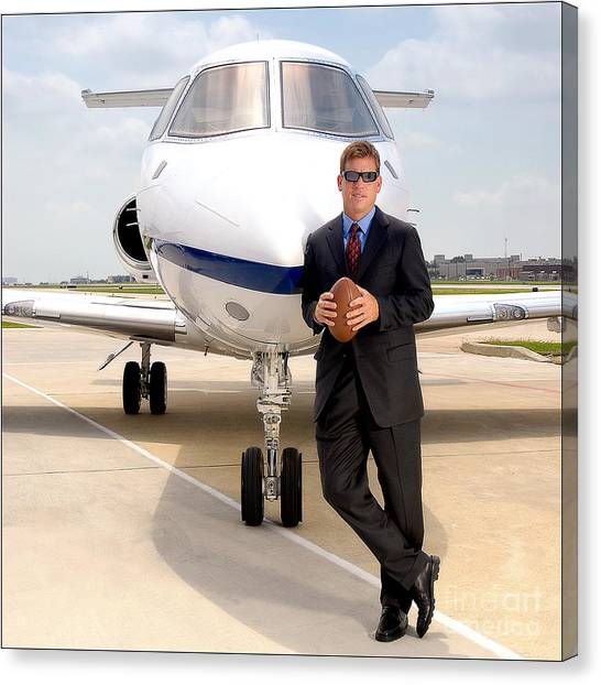 Dallas Cowboys Superbowl Quarterback Troy Aikman Canvas Print