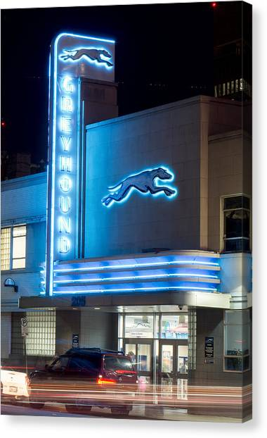 Dallas Greyhound V2 020915 Canvas Print