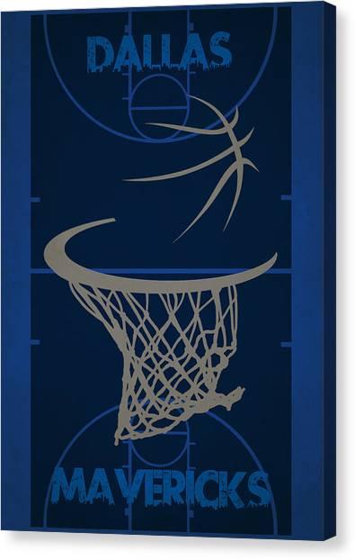 Dallas Mavericks Canvas Print - Dallas Mavericks Court by Joe Hamilton
