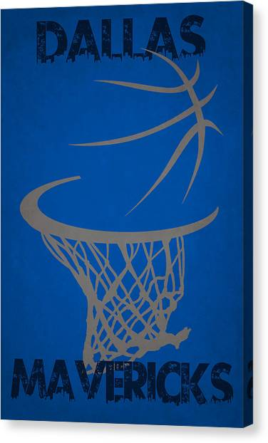 Dallas Mavericks Canvas Print - Dallas Mavericks Hoop by Joe Hamilton