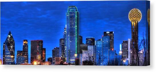 Dallas Skyline Hd Canvas Print