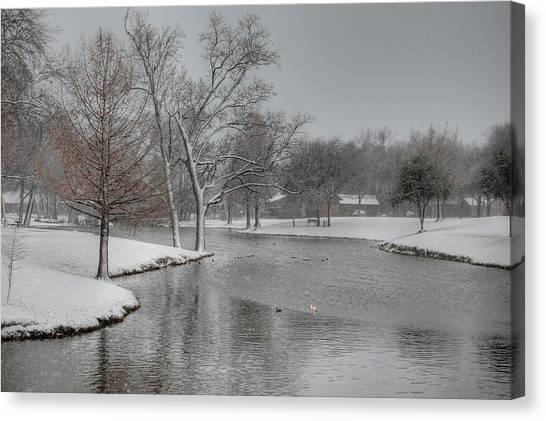 Dallas Snow Day Canvas Print