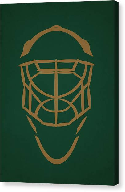 Dallas Stars Canvas Print - Dallas Stars Goalie Mask by Joe Hamilton