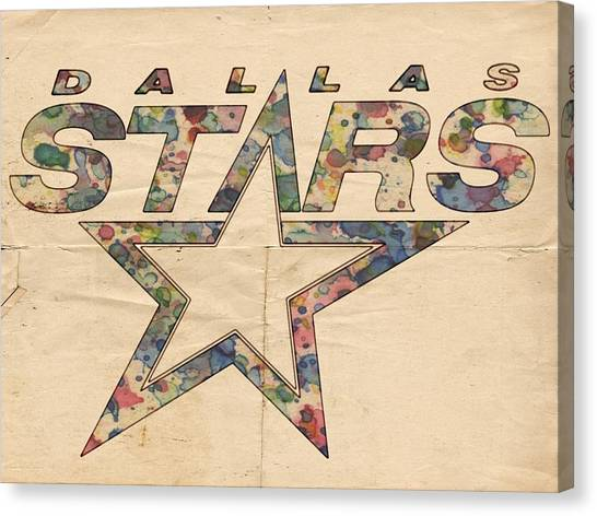 Dallas Stars Canvas Print - Dallas Stars Poster Art by Florian Rodarte