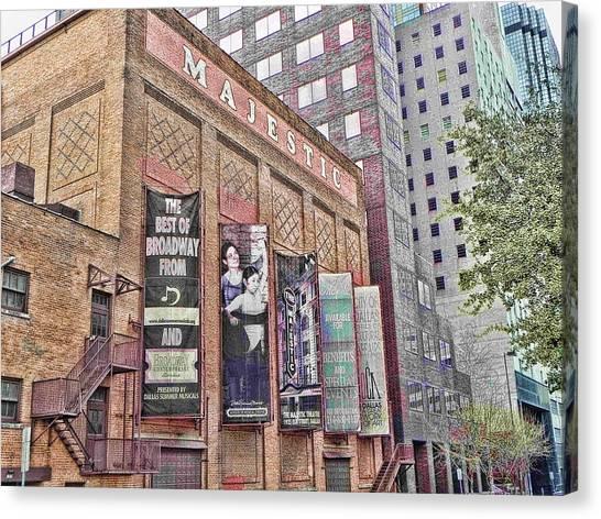 Dallas Texas Majestic Theater Canvas Print