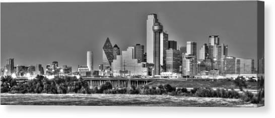 Dallas Skyline Canvas Print - Dallas The New Gotham City  by Jonathan Davison