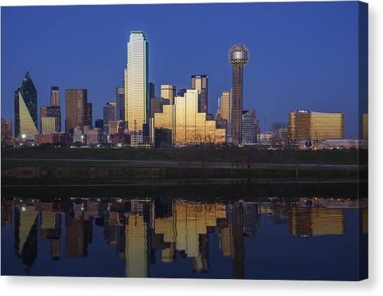 Dallas Skyline Canvas Print - Dallas Twilight by Rick Berk