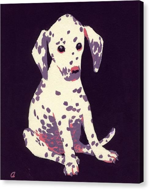 Doggy Canvas Print - Dalmatian Puppy by George Adamson