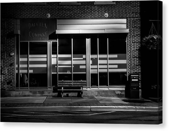 Daly Tea Company At Night Canvas Print