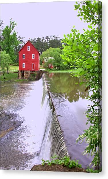 Dam At Starrs Mill Canvas Print