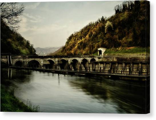 Dam On Adda River Canvas Print