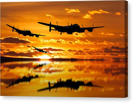 Dambusters Avro Lancaster Bombers Canvas Print