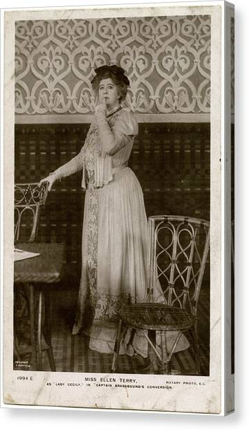 Dame Ellen Alice Terry (1847  1928) Canvas Print by Mary Evans Picture Library