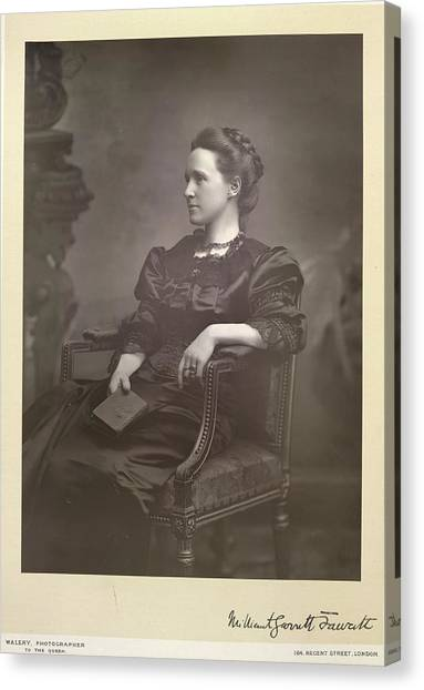 Womens Rights Canvas Print - Dame Millicent Fawcett by British Library