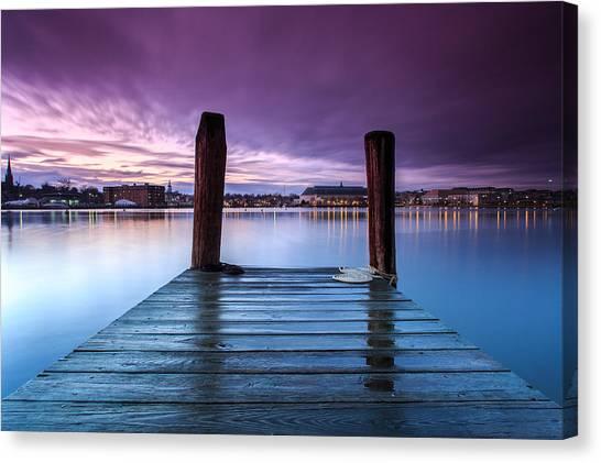 Damp Sunset Canvas Print