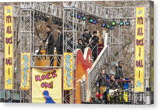 Macys Parade Canvas Print - Dan And Shay On Gibson Guitar Float At Macy's Thanksgiving Day Parade by David Oppenheimer