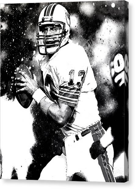 Dan Marino Canvas Print - Dan Marino by Brian Reaves