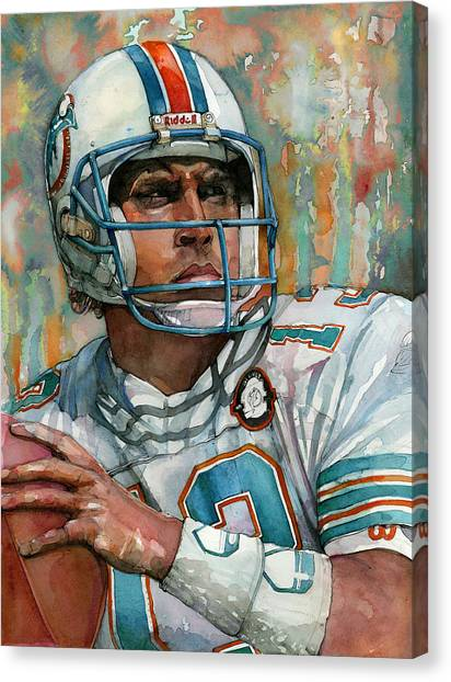 Dan Marino Canvas Print - Dan Marino by Michael  Pattison