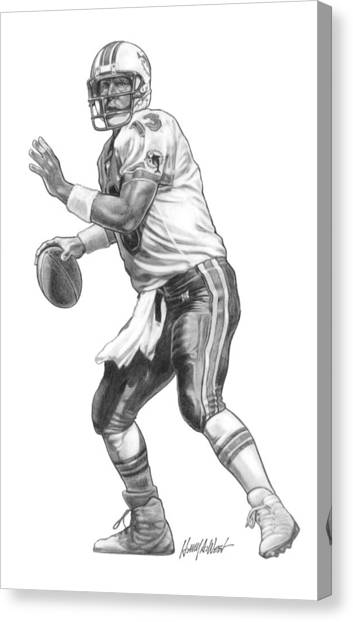 Dan Marino Canvas Print - Dan Marino Qb by Harry West