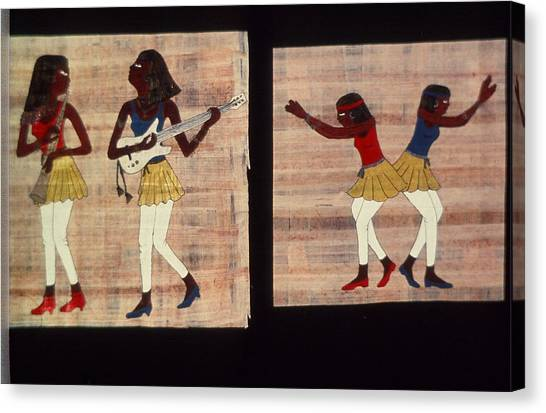 Dance And Flute Canvas Print