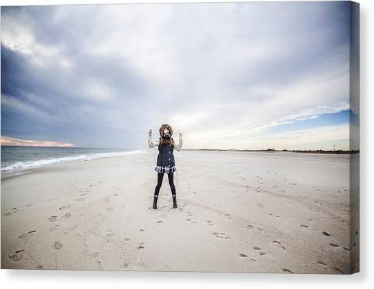 Dance At The Beach Canvas Print