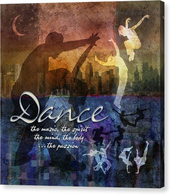 Dance Bright Colors Canvas Print