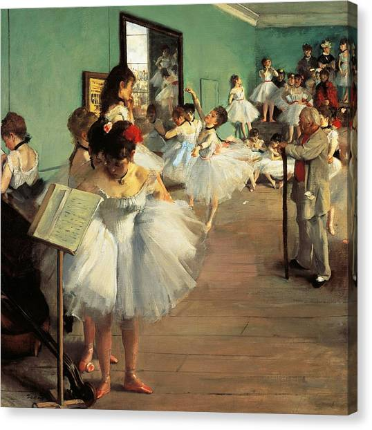 The Metropolitan Museum Of Art Canvas Print - Dance Examination by Edgar Degas