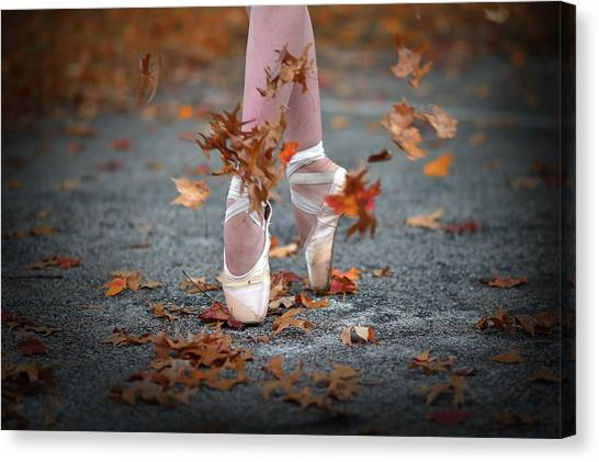 Dance In The Fall Wind Canvas Print by Rob Li
