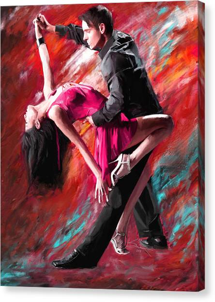 Dance Of Fire Canvas Print