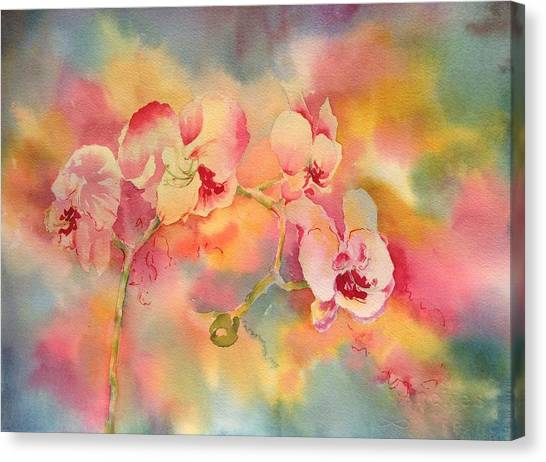 Dance Of The Orchids Canvas Print