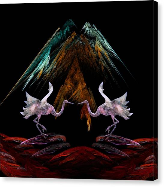 Dance Of The Paper Cranes Canvas Print